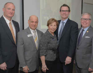 From left, HGAR's John Lease, Barry Kramer, COO Ann Garti, LCOR Senior Vice President James Driscoll and HGAR CEO Richard Haggerty.