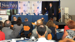 Dr. Paul Harrington of Drexel University addressed a packed room of more than 200 attendees at SUNY New Paltz for HVEDC's second annual State of the Hudson Valley Economy on June 25.