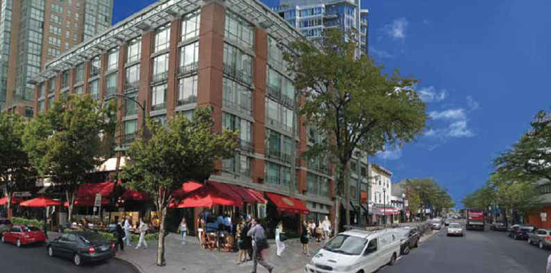 An artist rendering of possible development in Downtown New Rochelle.