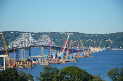 The New NY Bridge project site as seen from Rockland County.