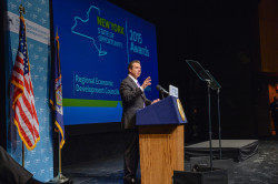 Gov. Andrew Cuomo at the CFA Awards announcement last week in Albany