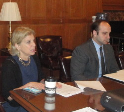 NYS Assemblywomen Shelly Mayer meeting with HGAR delegation in the Capitol Building Room
