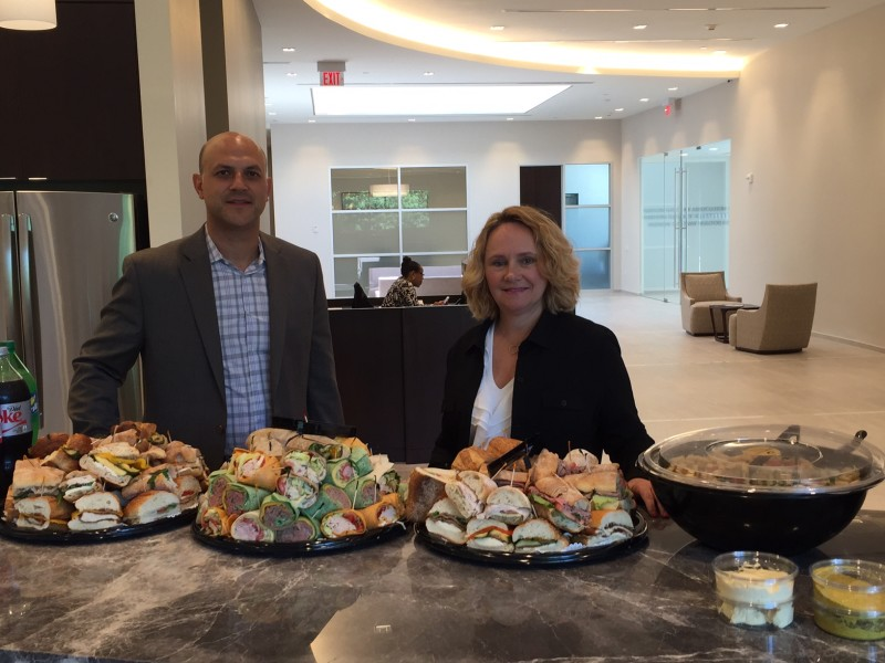 """Dean Curtis and Sheila Chesterman of Hudson United, the sponsors of the June 21 """"Lunch & Learn."""""""