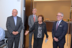 George Oros, chief of staff for Westchester County Executive Robert Astorino, White Plains Mayor Thomas Roach, U.S. Congresswoman Nita Lowey and Richard Haggerty, HGAR CEO