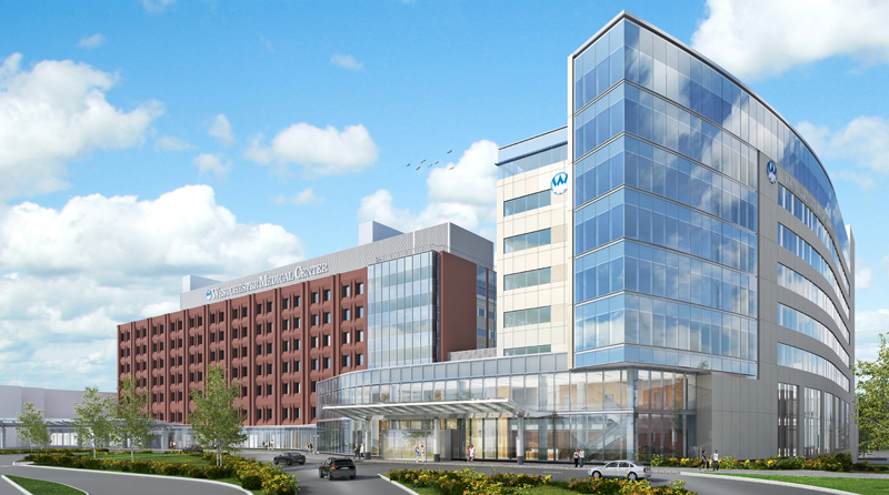 A Rendering of the Ambulatory Care Pavilion at the Westchester Medical Center in Valhalla.