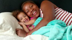Tiera Rice and her daughter Raevyn