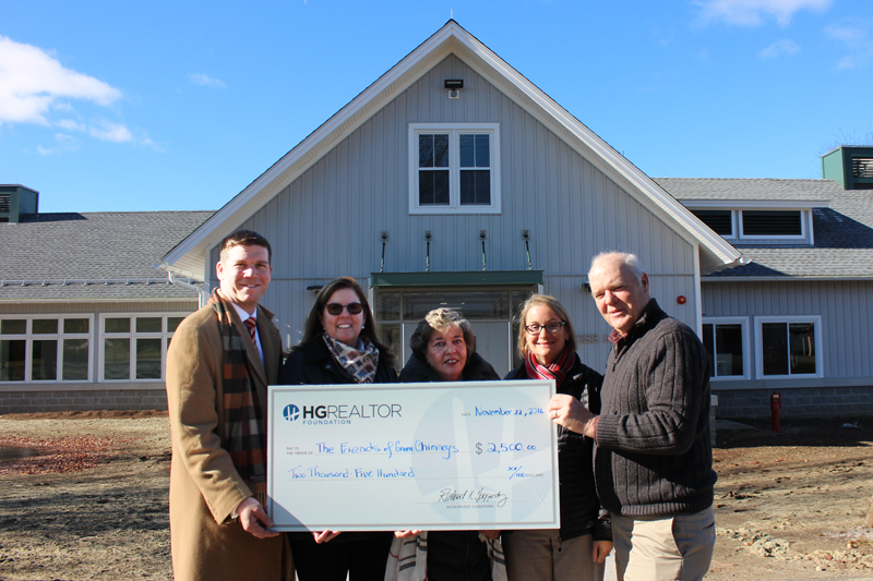 From left, Drew Kessler, HG Realtor Foundation Trustee, Cathleen Stack, HGAR Director of Marketing, Eileen Barrett, Hudson Gateway MLS Secretary; Kristin Dionne, Green Chimneys Director of Development, and Joe Whalen, Green Chimneys Executive Director. Based in Brewster, Green Chimneys is recognized as a worldwide leader in animal-assisted therapy and educational activities for children with special needs.