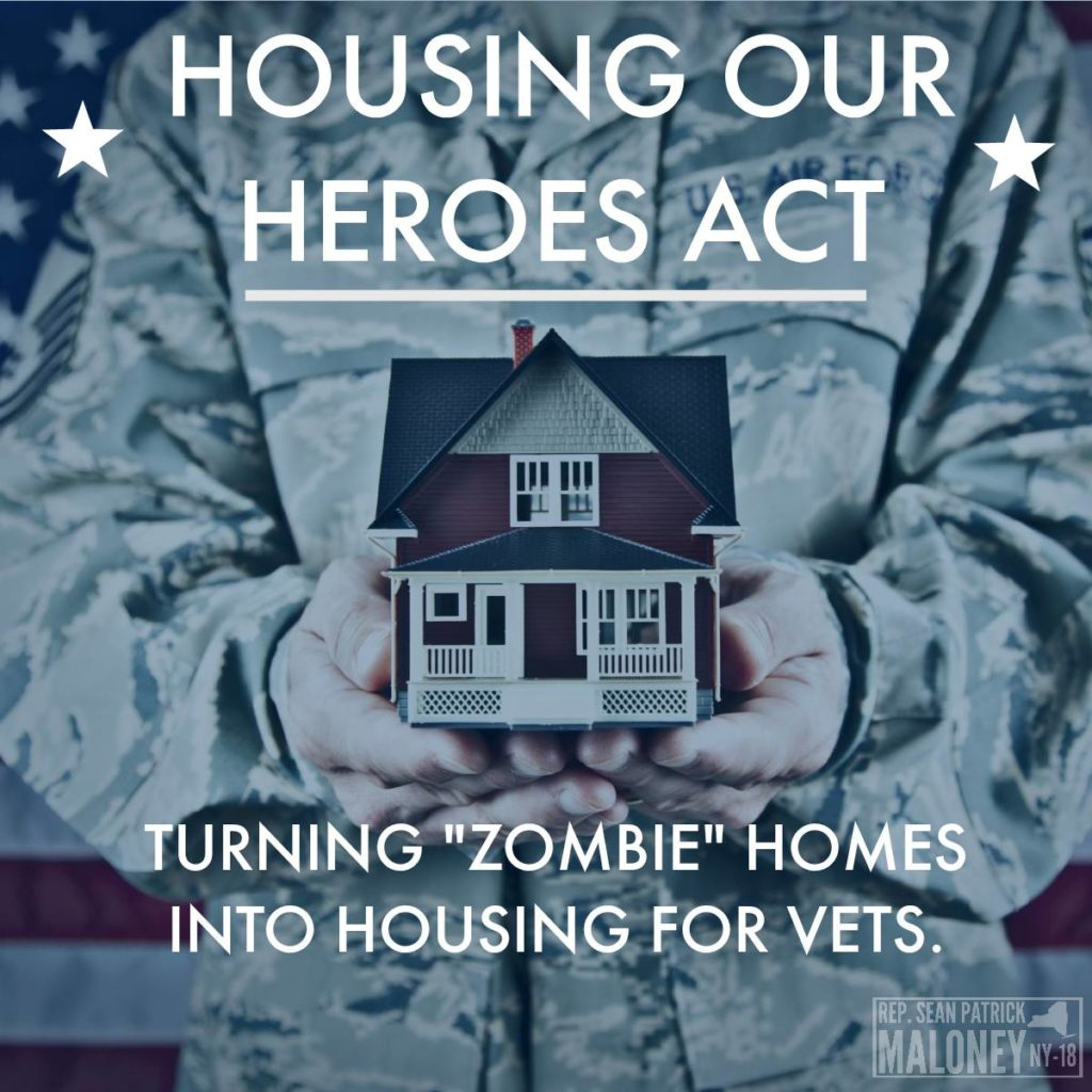 rep maloney proposes bill to turn zombie homes into housing for